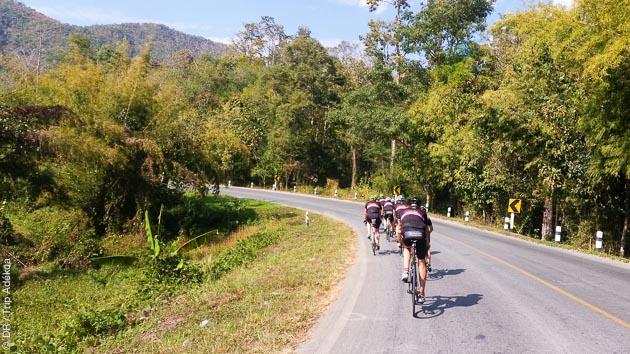 sortie vélo en thailande