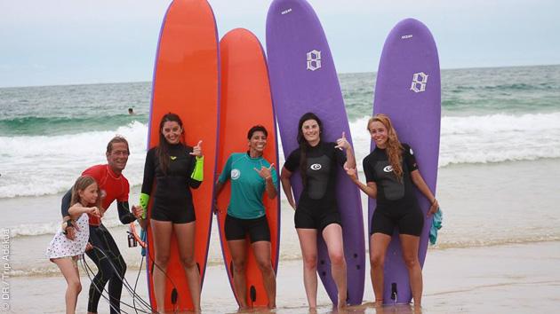 pendant vos vacances dans le sud-ouest, un super stage de surf à Capbreton
