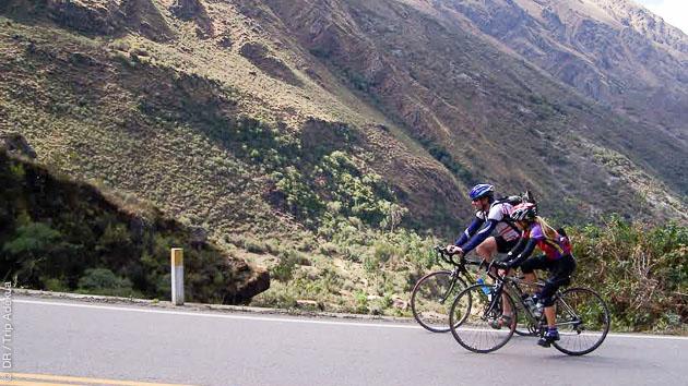 circuit cyclosportif dans les Andes