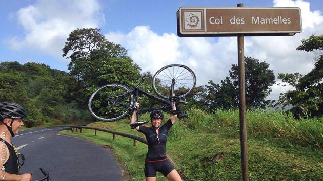 Ascension du col des Mamelles en Guadeloupe lors de ce séjour vélo
