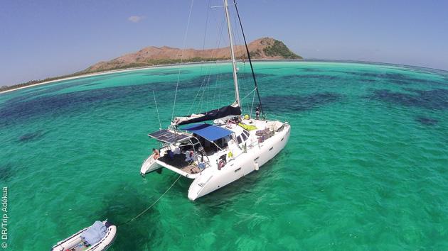 votre bateau pour cette croisière kitesurf aux Philippines à Seco Island
