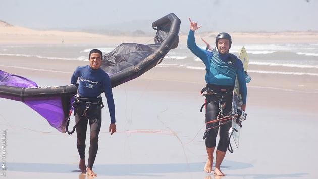 Séjour kitesurf avec matériel, directement sur le spot d'Essaouira