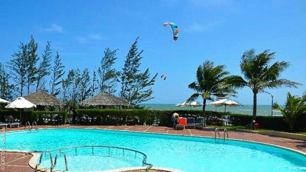 notre hotel au vietnam face au spot de kitesurf