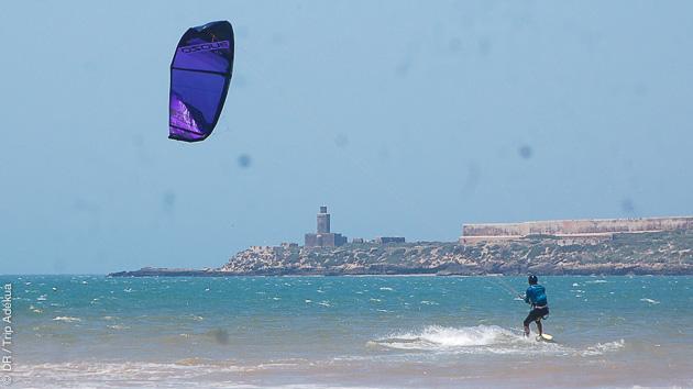 Séjour kitesurf à Essaouira, avec guide pour un kitesurf trip et hébergement