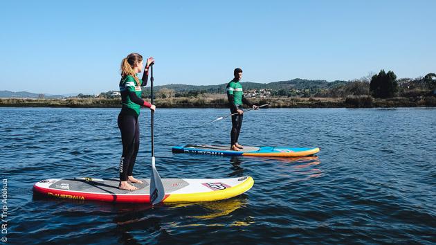 découverte du stand up paddle au Portugal
