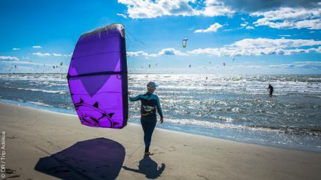 Séjour kite en autonome, avec hébergement sur le spot de Beauduc en Camargue