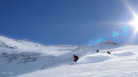 Arpentez en ski freeride le magnifique domaine des Deux-Alpes