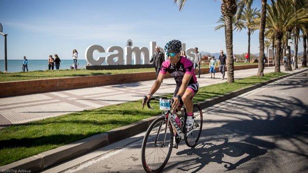 stage vélo de route en Catalogne, à Cambrils