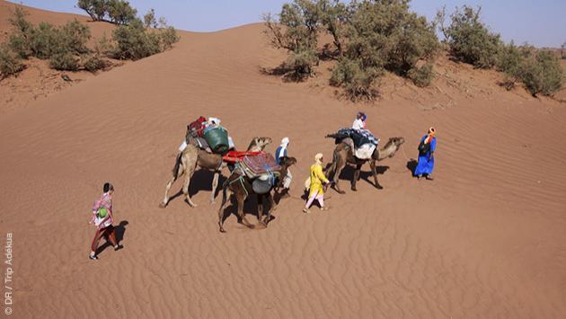 Séjour trekking dans le Sud Maroc, dans les dunes de l'Erg Chegaga