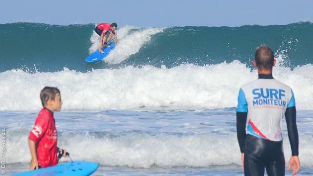 stage de surf à Biarritz