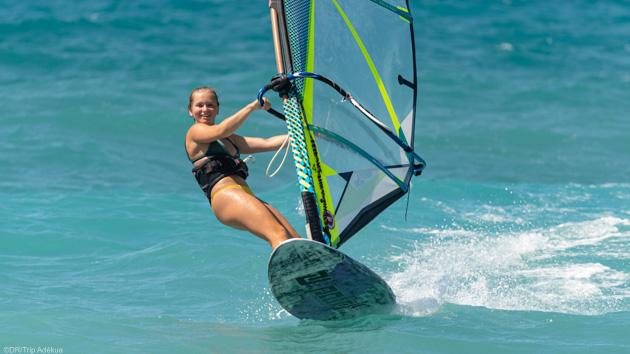 Des vacances windsurf de rêve sur le spot de Theologos à Rhodes