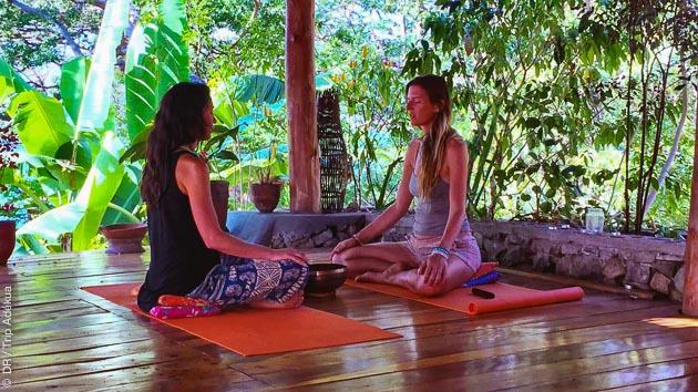 yoga et bains sonores dans l'état du Tamil Nadu